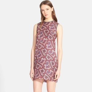 Theory Dresses - Theory Brindina Leather-Trimmed Dress